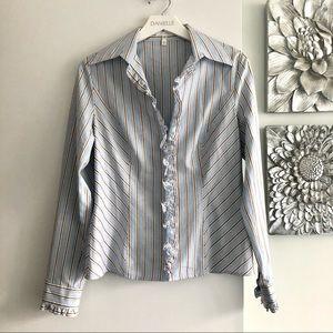 ESCADA Ruffle Button Down Shirt